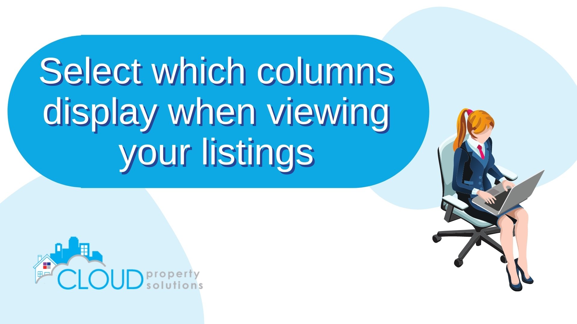 Select which columns display when viewing your listings