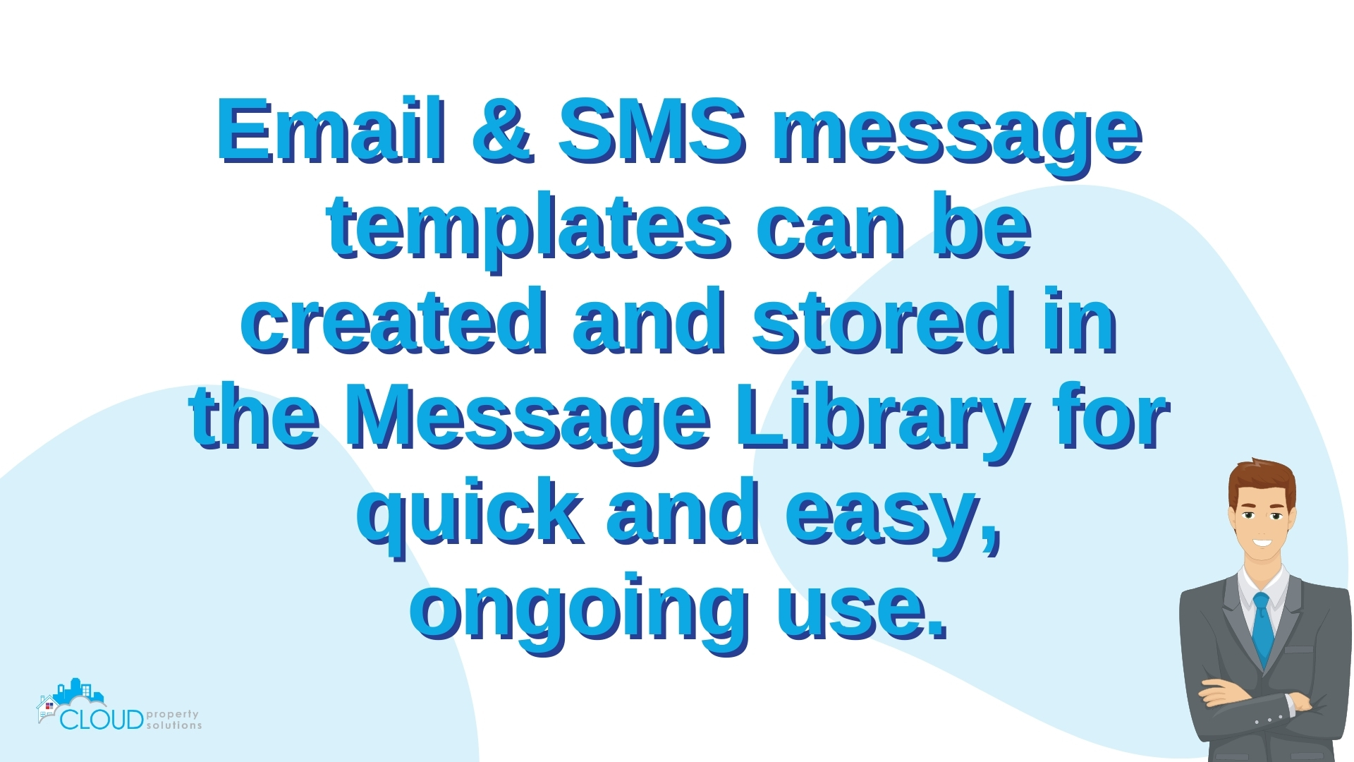 Save time with stored email and sms templates.