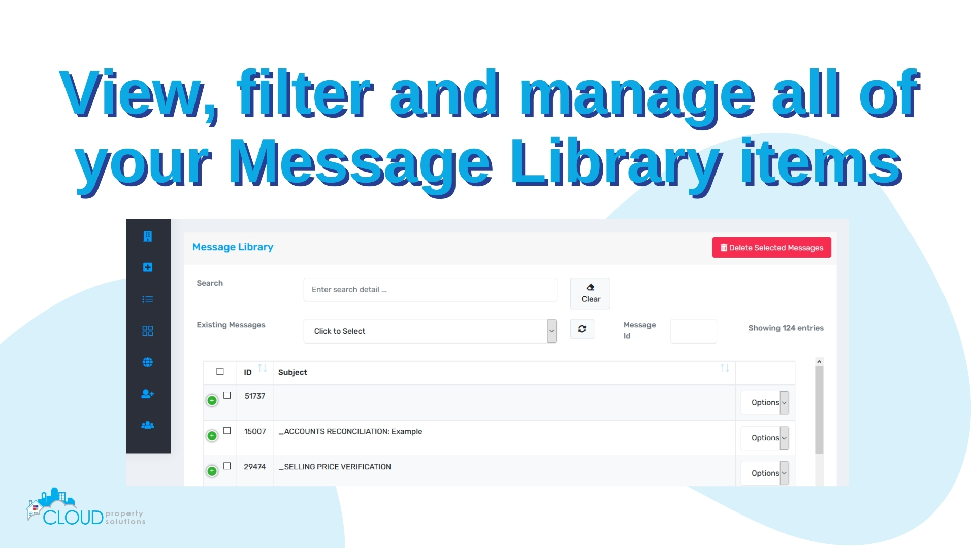 Manage your message library templates.